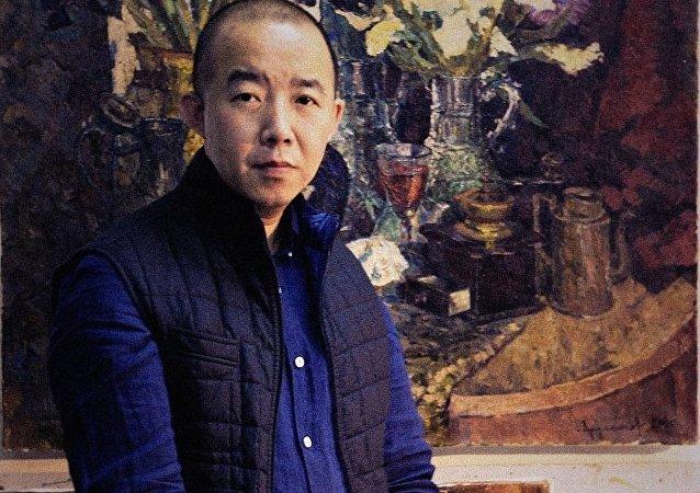 中国青年画家牟克