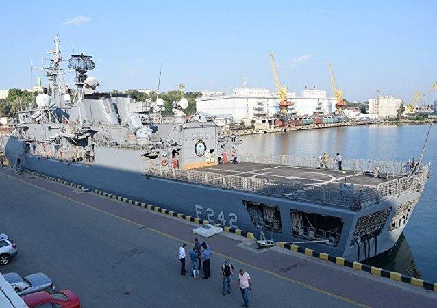 北约军用运输机飞抵敖德萨参加海上微风军演