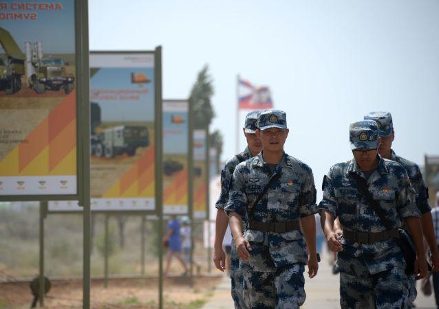 中国库尔勒训练基地为国际军事比赛-2018参赛者建起一座营区