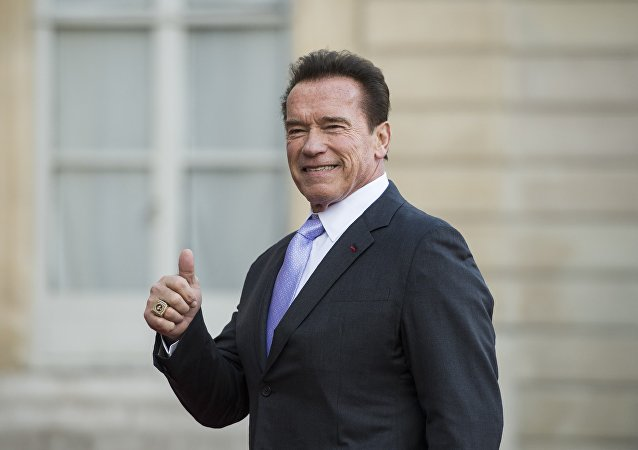 Former Governor of the US State of California, US actor Arnold Schwarzenegger