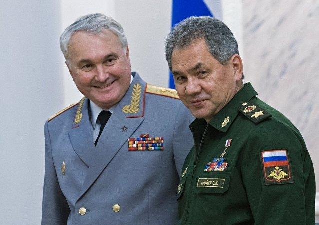 前俄军驻叙利亚部队司令安德烈·卡尔塔波洛夫与俄罗斯国防部长