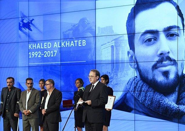 RT电视台开始接收随军记者参加2020哈列德·阿里·哈德别国际奖的申请