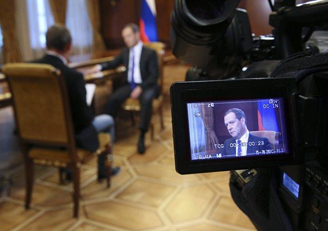 梅德韦杰夫:俄罗斯2008年行动并非打算摧毁格鲁吉亚