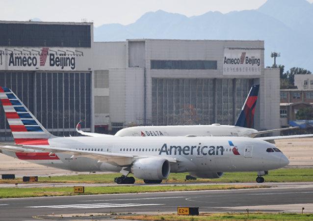 美国航空公司的客机