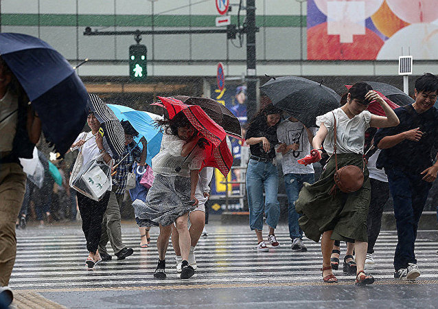 台风掠过日本