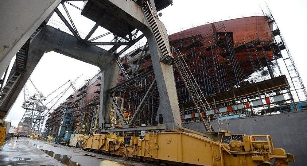"""圣彼得堡开始建造""""楚科奇""""号新型核动力破冰船"""