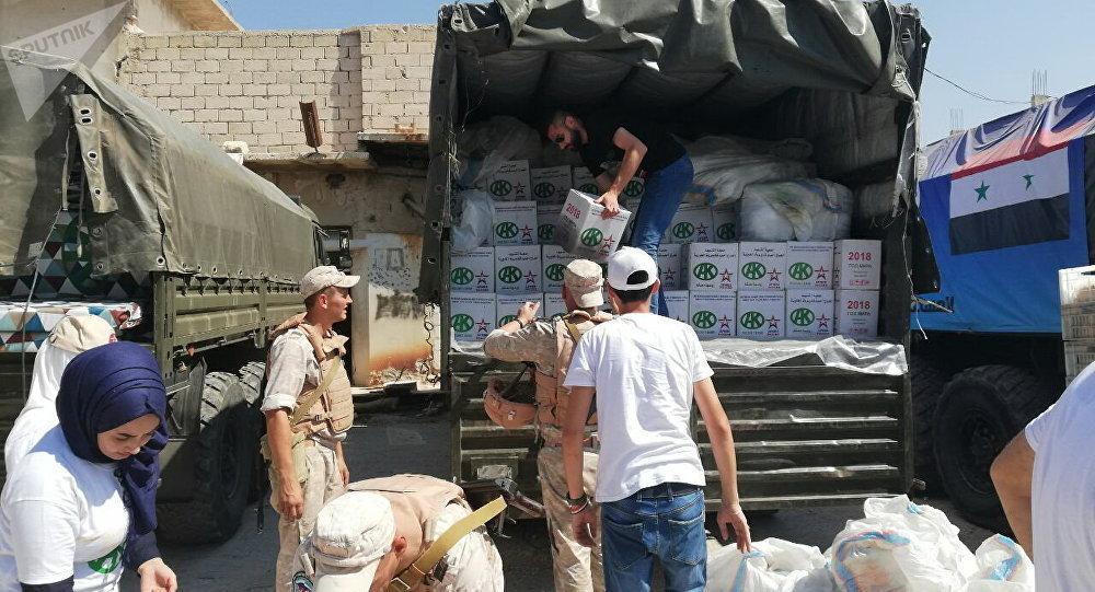俄军人在叙利亚实施人道主义行动