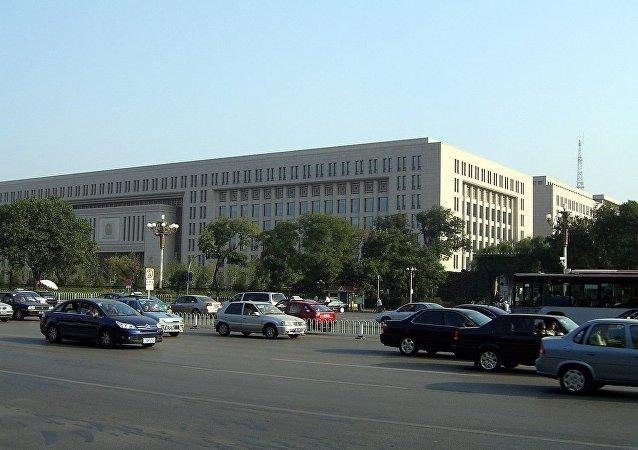位于长安街旁的中华人民共和国公安部大楼