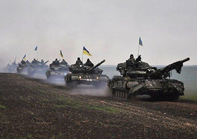 乌克兰军队在顿巴斯(资料图片)