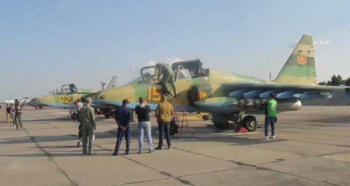 哈萨克斯坦空军展示了苏-25攻击机