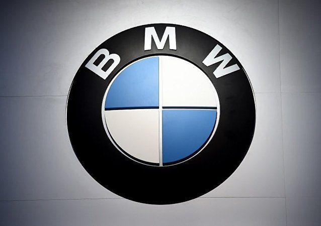 The logo for BMW