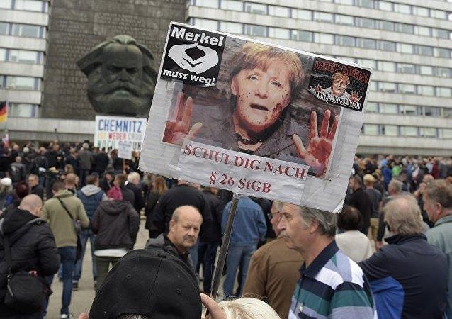 德国警方:开姆尼茨示威活动约300人被捕