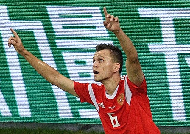 切雷舍夫的入球角逐国际足联评选的2018年世界杯最佳进球评选