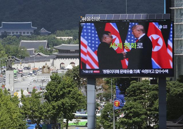 中国外交部:中方对朝美积极互动感到高兴