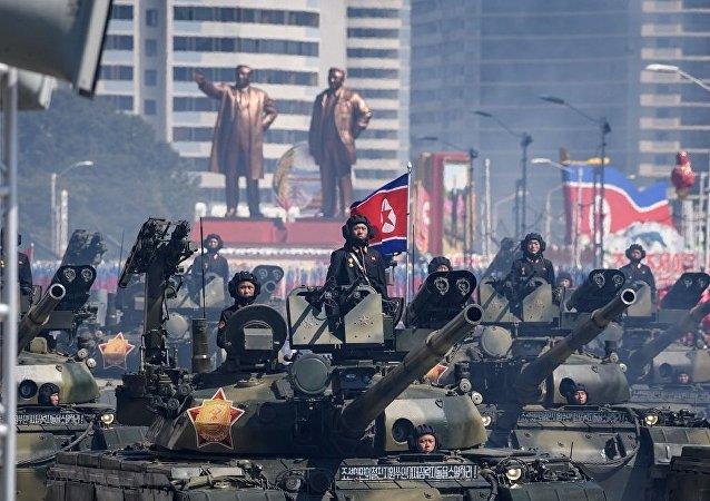 朝鲜阅兵 资料图