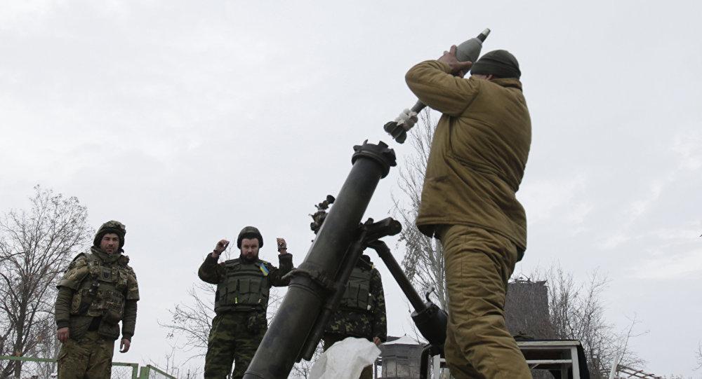 顿涅茨克人民共和国称摧毁乌克兰武装部队在顿巴斯的迫击炮阵地