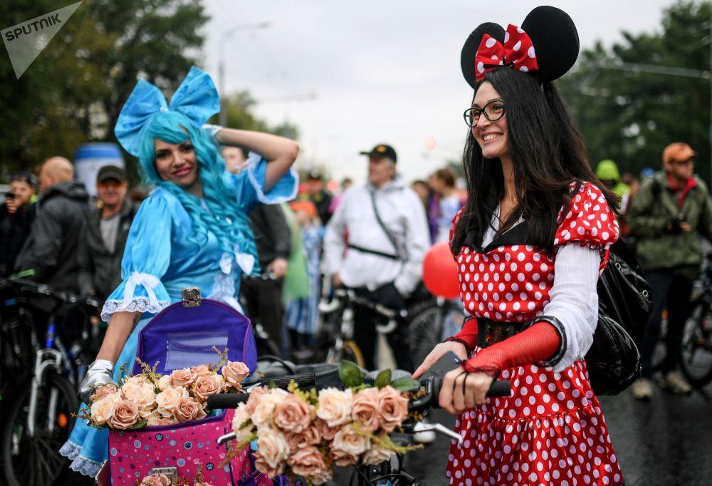 莫斯科秋季自行车游行