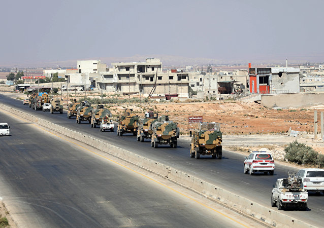 土耳其军事装备在叙利亚伊德利卜省 (资料图片)