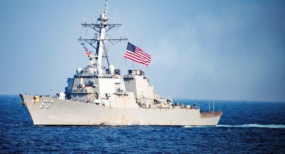 美军舰穿航台湾海峡 资料图