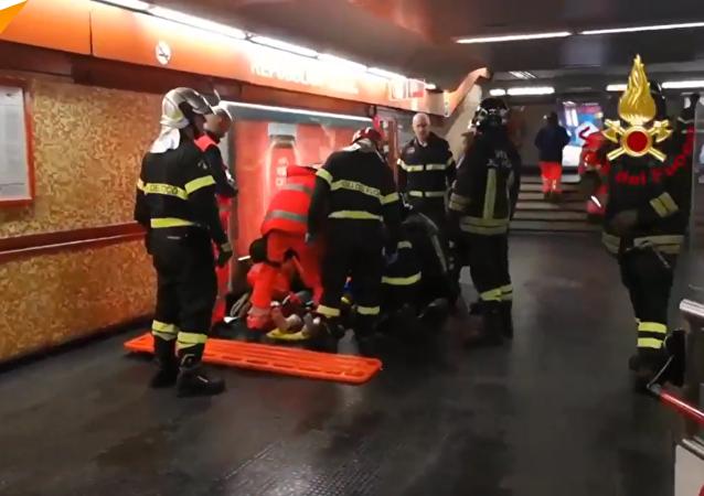中央陆军球迷在罗马地铁电梯坍塌事故中受伤 (
