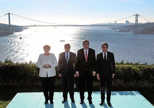 叙利亚问题土俄德法四国元首峰会结束