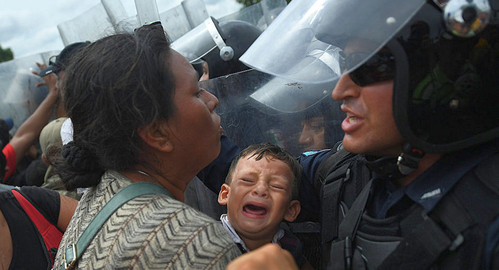 洪都拉斯移民在墨危边界