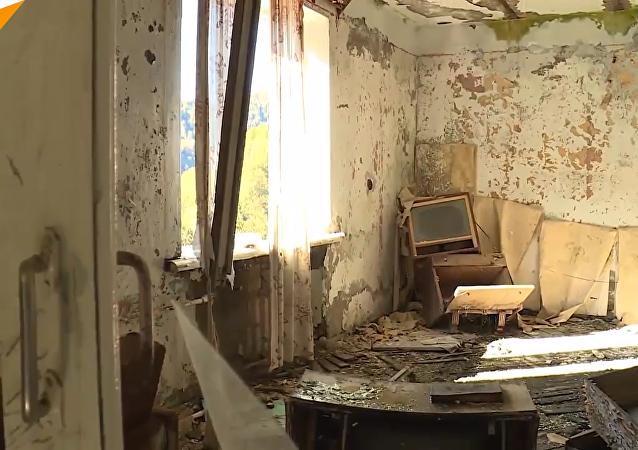 """被遗弃的阿布哈兹""""鬼城"""""""