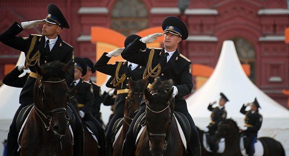 俄罗斯总统警卫团骑兵仪仗队