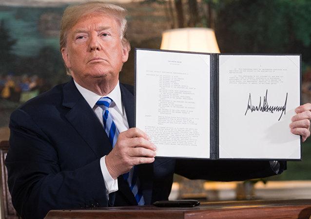 特朗普签署对伊加强制裁文件