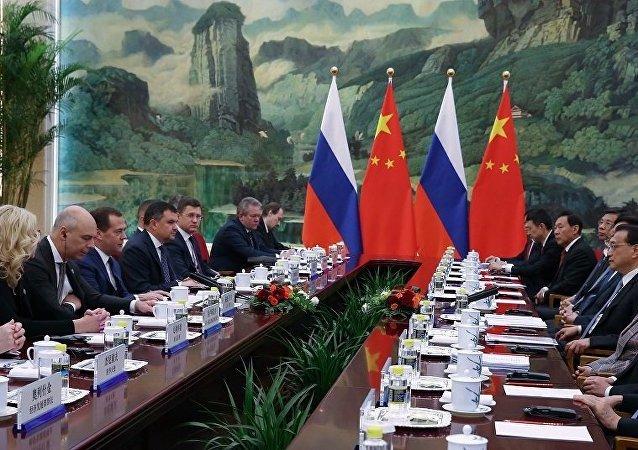 中俄总理举行第二十三次定期会晤并发表联合公报