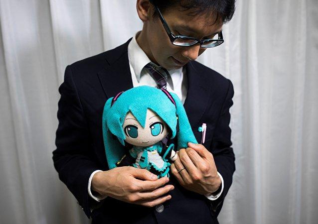 日本男子娶虚拟女歌手为妻