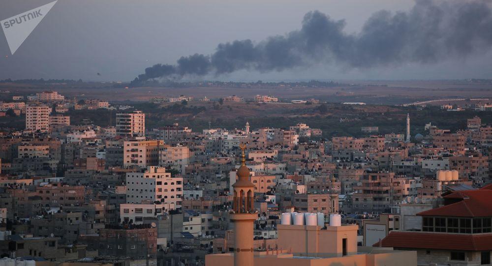 加沙地带边境23日的冲突导致至少12名巴勒斯坦人受伤