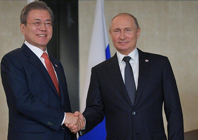 普京:俄韩正积极合作解决朝鲜核问题
