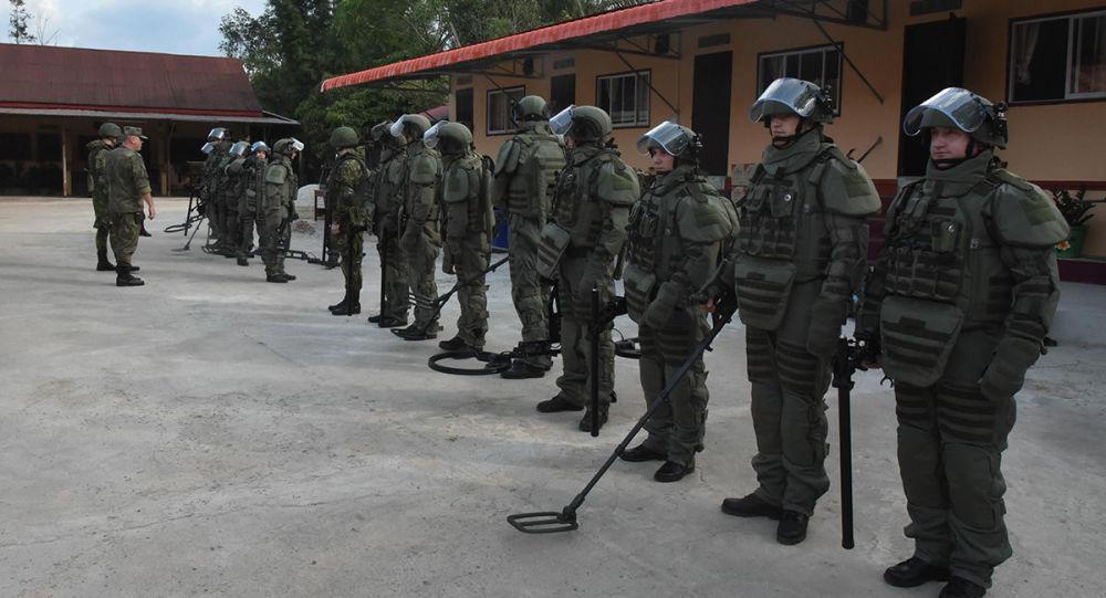 俄罗斯工兵在老挝