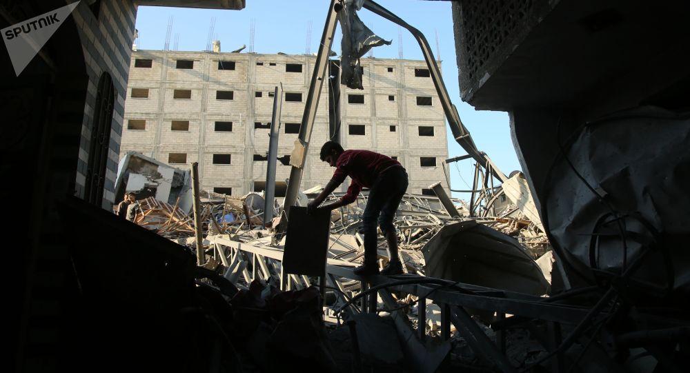 超百名巴勒斯坦人在加沙地带边境区同以军的冲突中受伤