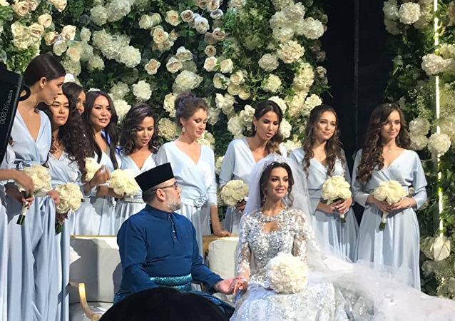 马来西亚最高元首迎娶莫斯科小姐