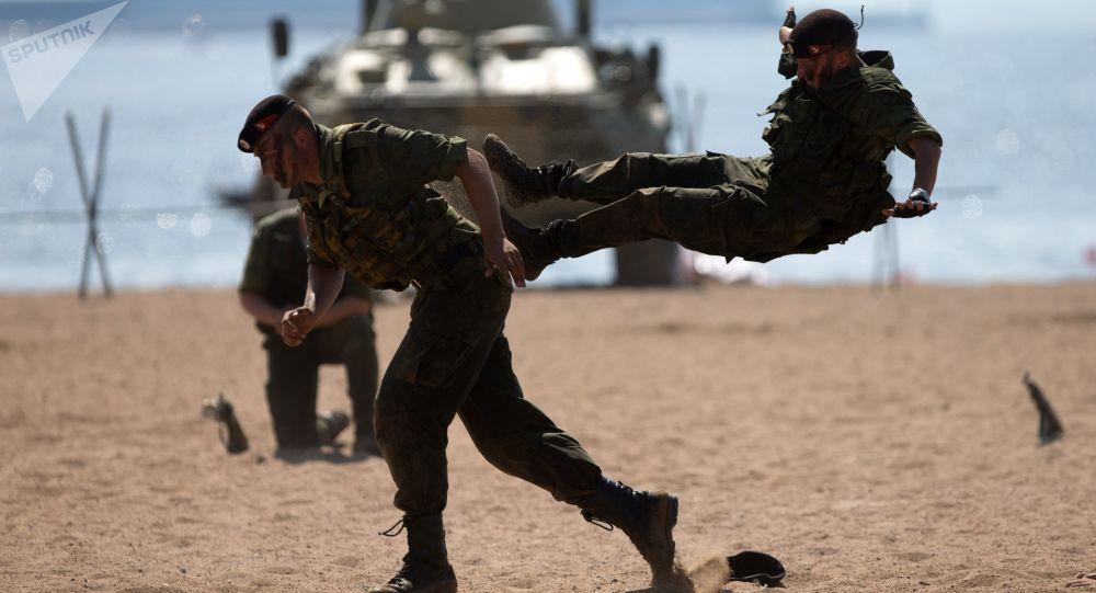 俄东部军区结束在千岛群岛的反登陆演习
