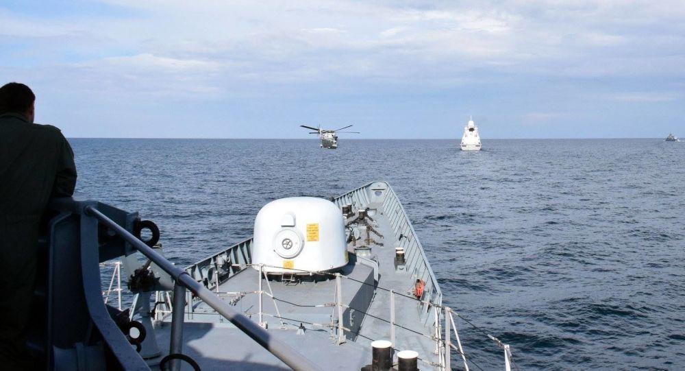 Совместная тренировка ВМС Украины и кораблей НАТО в Черном море. Архивное фото.