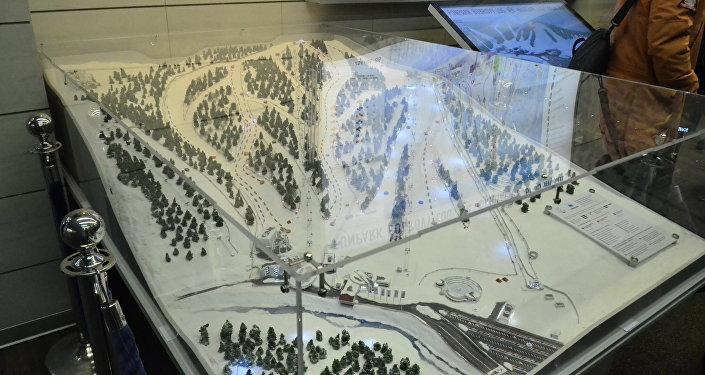 """""""博布罗维洛格""""游乐场滑雪场路线图"""