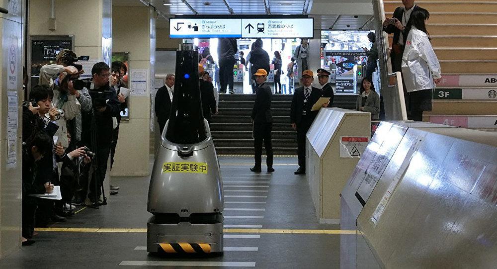 日本为筹备奥运会或在城市铁路站上用机器人代替保安