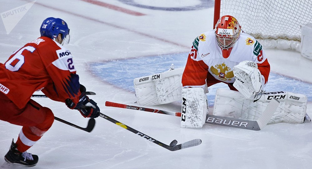 U20冰球世锦赛俄罗斯战胜捷克