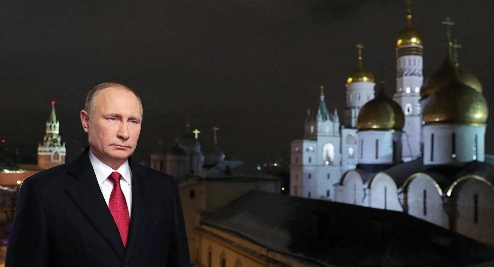 普京在新年贺词中祝愿俄罗斯公民顺遂安康