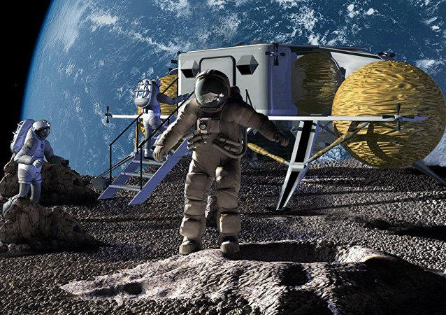 俄科学家将研究国际空间站机组人员的月球步态