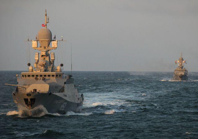 俄罗斯从里海派出15艘船舰前往黑海