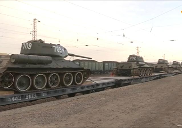 30辆传奇T-34坦克从老挝返回俄罗斯
