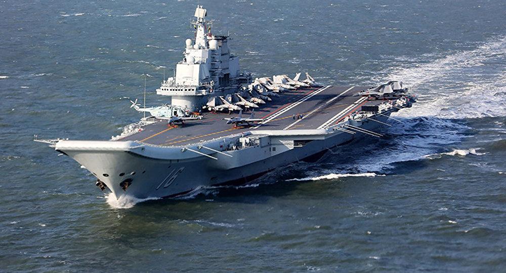 台北宣称中国航母进入台湾海峡