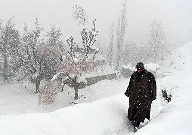 Лавина в Кашмире.