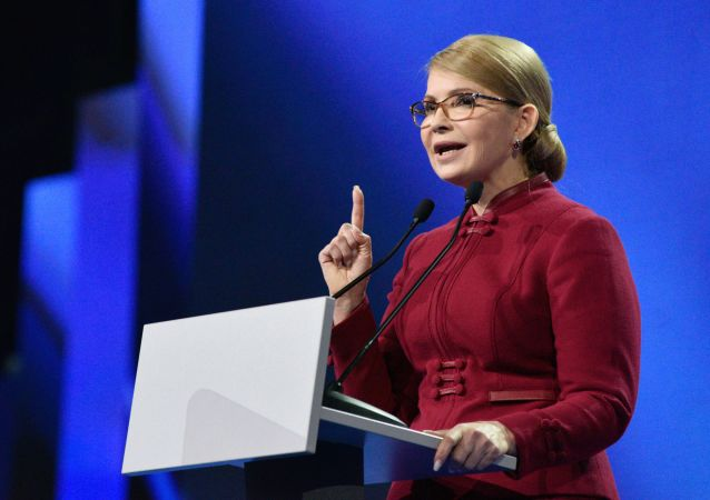 乌克兰反对党祖国党主席尤利娅·季莫申科