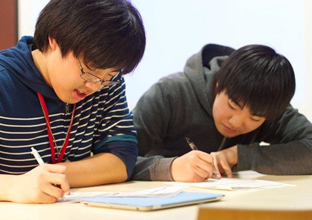 Китайские студенты.