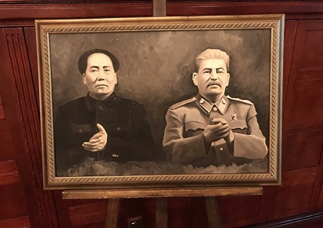斯大林与毛泽东主席